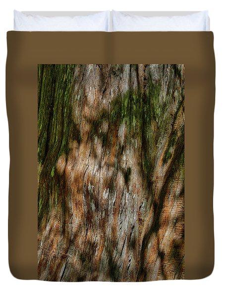 Detail Of Bark On Huge  Tree Duvet Cover