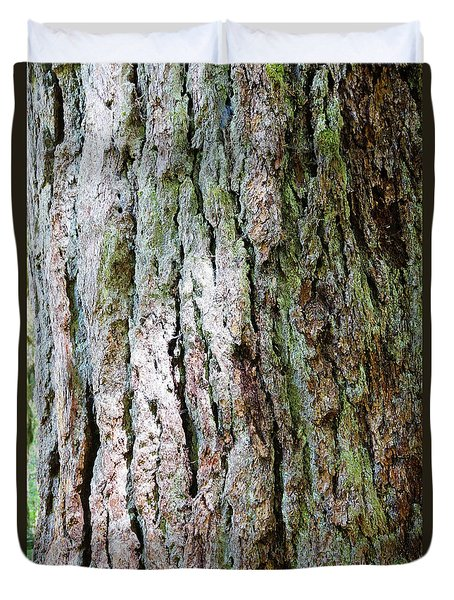 Details, Old Growth Western Redcedars Duvet Cover
