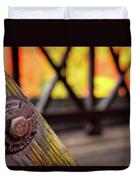 Details On A Covered Bridge Duvet Cover