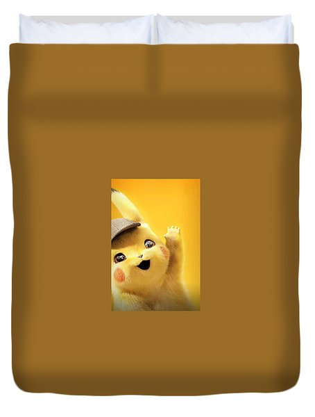 Detetive Pikachu Duvet Cover