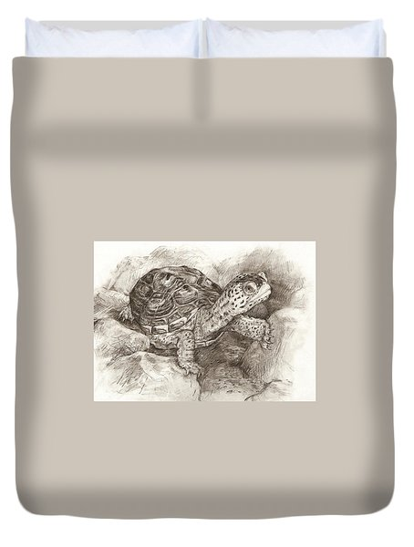 Diamondback Terrapin Duvet Cover