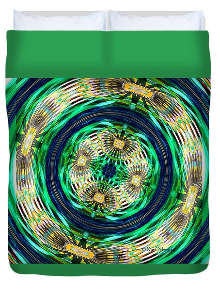 Digital Art - Tilted Axis Duvet Cover