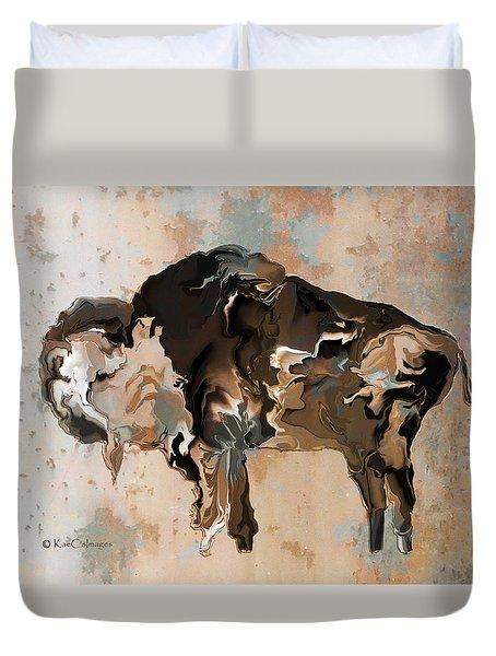 Digital Bison 6d Duvet Cover