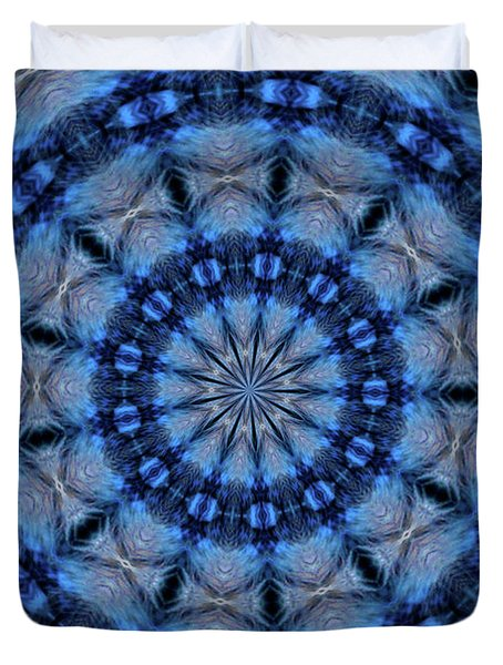 Blue Jay Mandala Duvet Cover