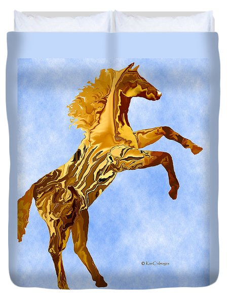 Digital Horse 2 Duvet Cover