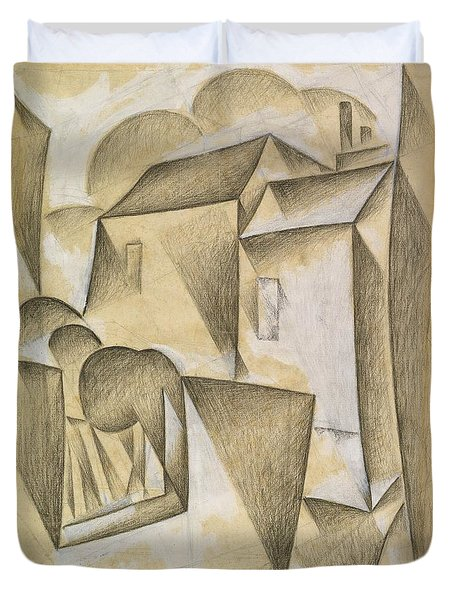 Digital Remastered Edition - Houses In Paris, Place Ravignan Duvet Cover