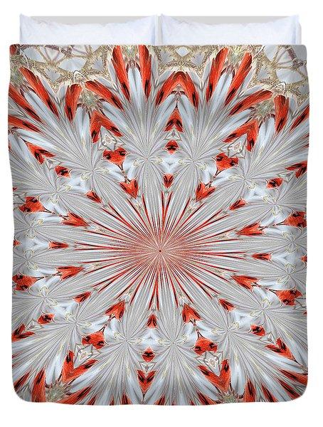 Digitalized Cardinal Duvet Cover