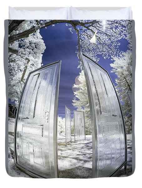 Dimensional Doors Duvet Cover