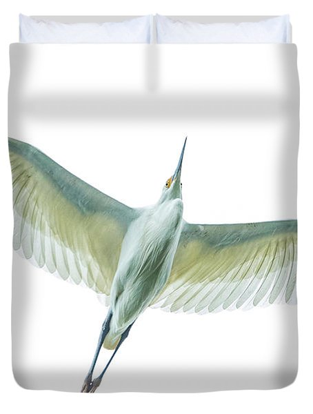 Dimorphic Egret Egretta Dimorpha Duvet Cover