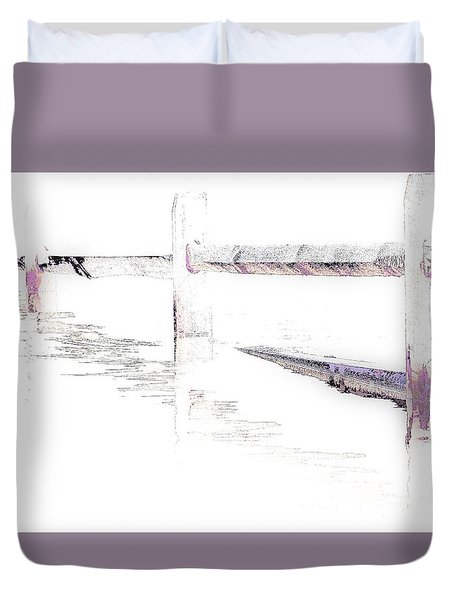 Disappearing Fence Duvet Cover