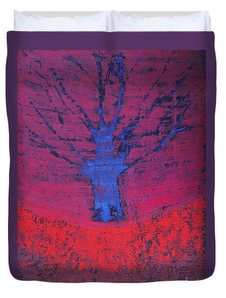 Disappearing Tree Original Painting Duvet Cover