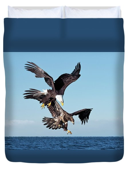 Diving Duo Duvet Cover