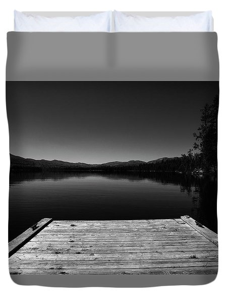 Dock At Dusk Duvet Cover
