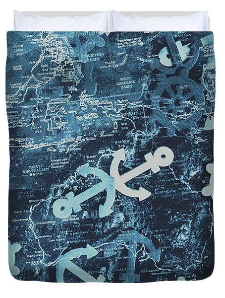 Docks And Ports Duvet Cover