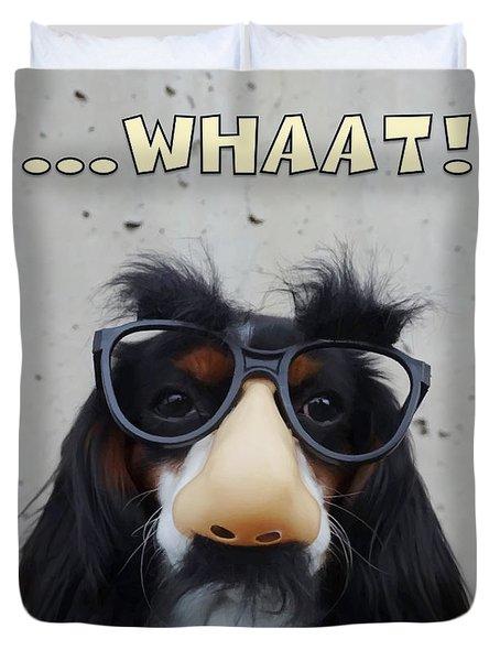Dog Gone Funny Duvet Cover