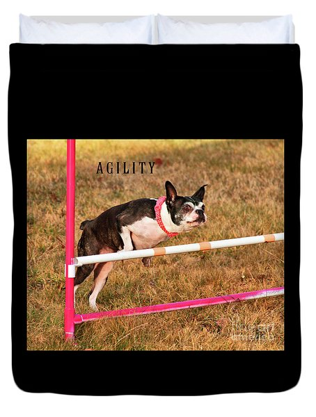Duvet Cover featuring the photograph Doggie Agility  by Debbie Stahre