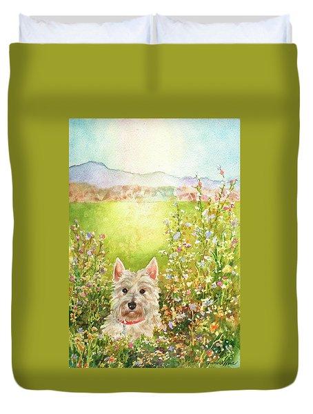 Doggie Heaven Duvet Cover