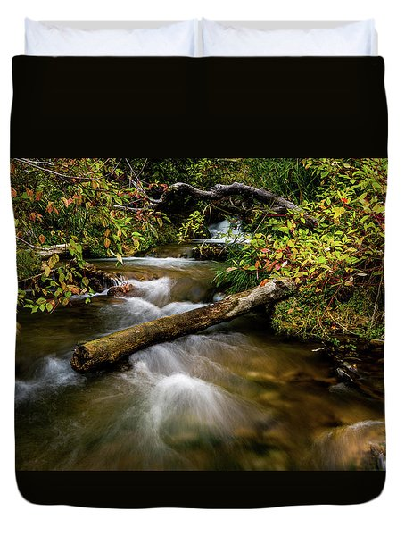 Duvet Cover featuring the photograph Dogwoods Along The Provo Deer Creek by TL Mair