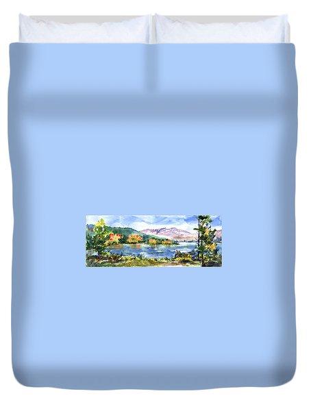 Donner Lake Fisherman Duvet Cover