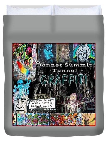 Donner Summit Graffiti Duvet Cover