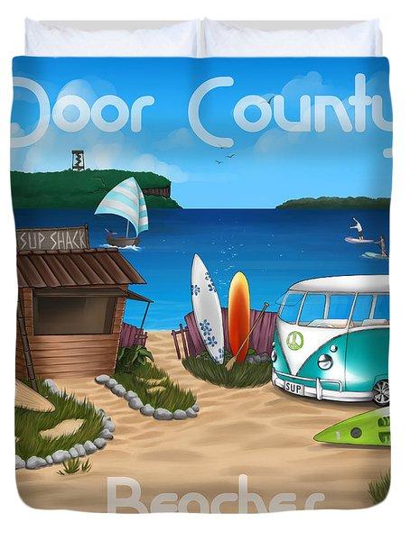 Door County Beaches Duvet Cover