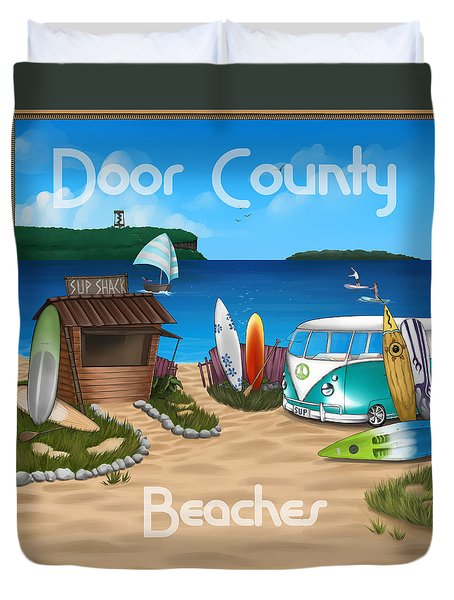 Door County Beaches Duvet Cover