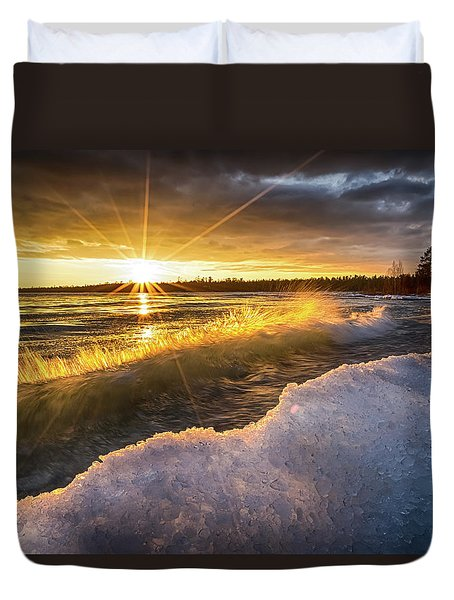 Door County Sunset Duvet Cover
