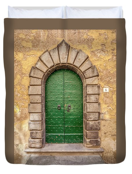 Door Six Of Cortona Duvet Cover