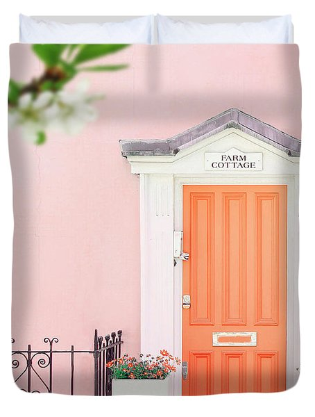 Door To Pastel Heaven Duvet Cover