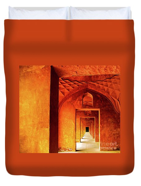 Doors Of India - Taj Mahal Duvet Cover