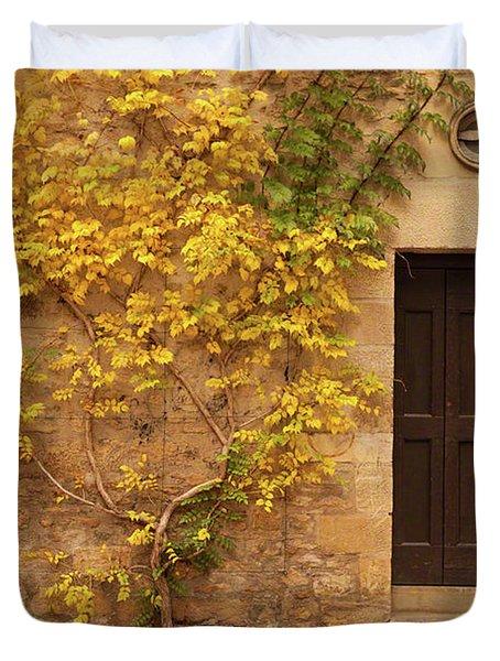 Doorway, Sarlat, France Duvet Cover