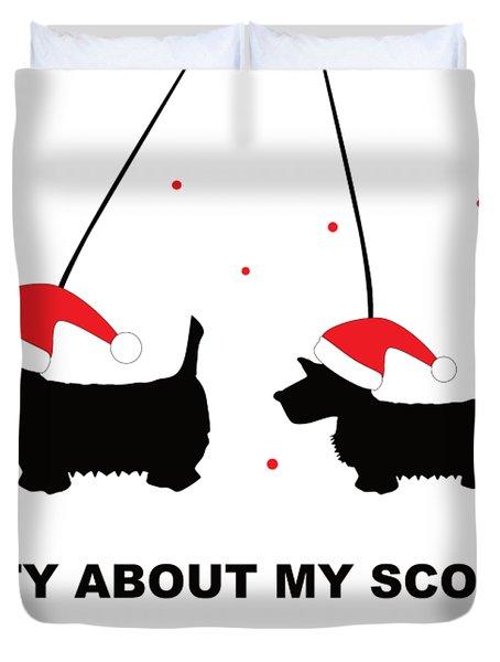 Dotty About My Scottie - Xmas Duvet Cover