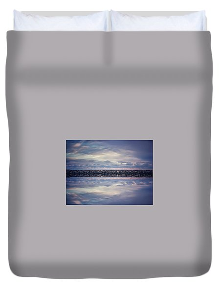 Duvet Cover featuring the photograph Double Exposure 2 by Steve Stanger