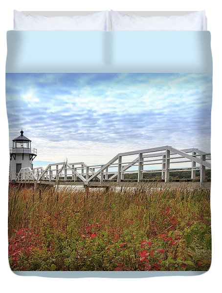 Doubling Point Lighthouse In Maine Duvet Cover