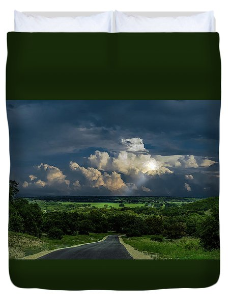 Down Hill From Here Duvet Cover