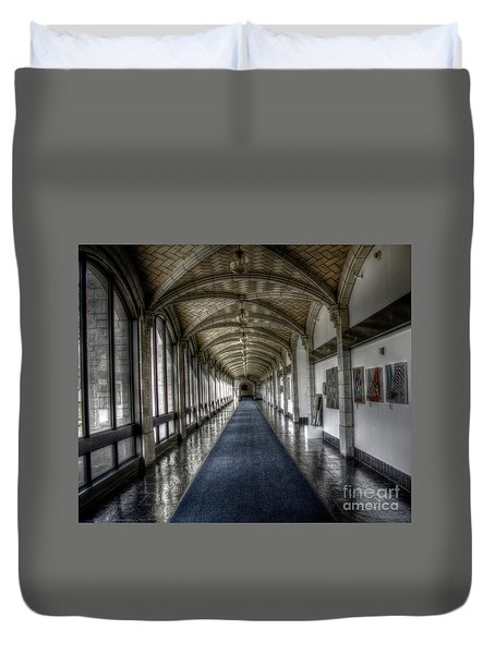 Down The Hall Duvet Cover