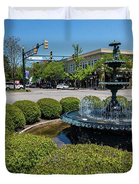 Downtown Aiken Sc Fountain Duvet Cover