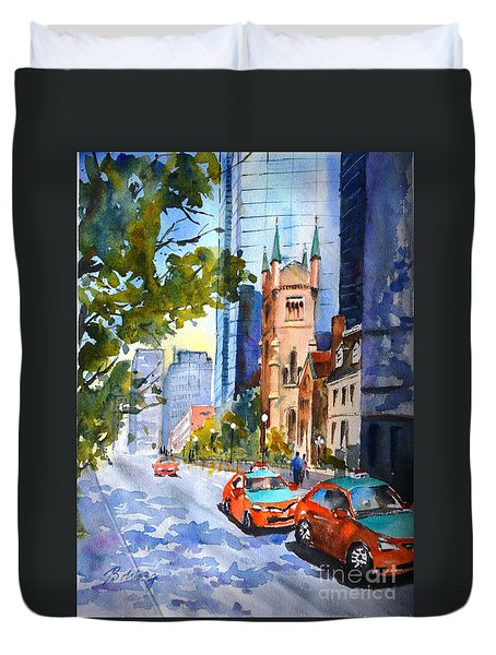 Downtown Toronto Duvet Cover