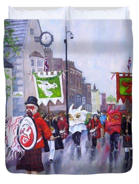 Dragon Parade Duvet Cover