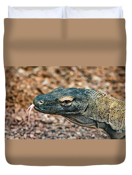 Dragon With No Fire Duvet Cover