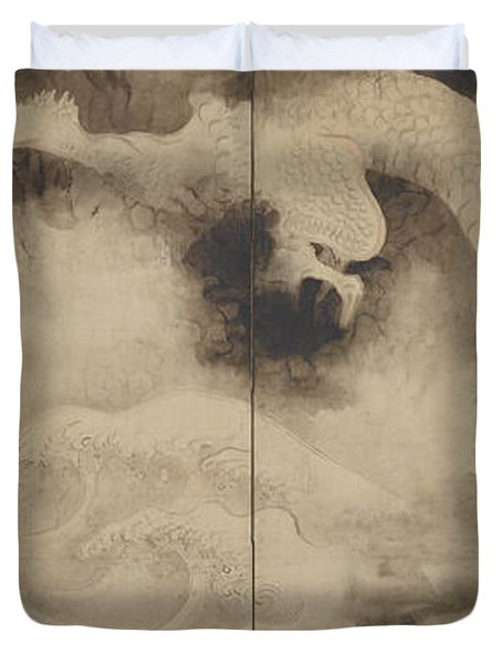 Dragons And Clouds, Edo Period Duvet Cover