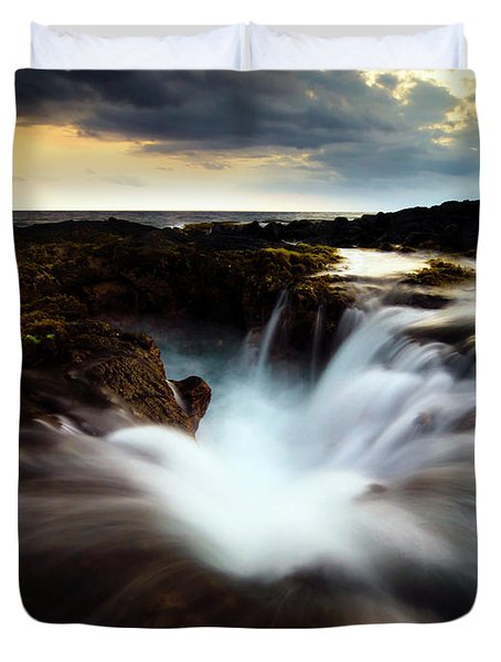 Dramatic Blow Hole Duvet Cover