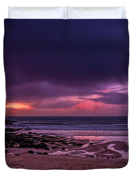 Dramatic Sky At Porthmeor Duvet Cover
