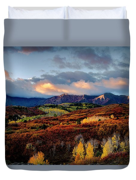 Dramatic Sunrise In The San Juan Mountains Of Colorado Duvet Cover