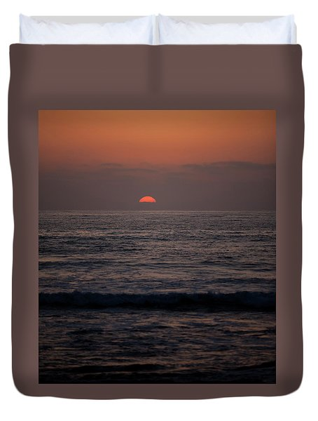 Dreamcicle Sunset Duvet Cover