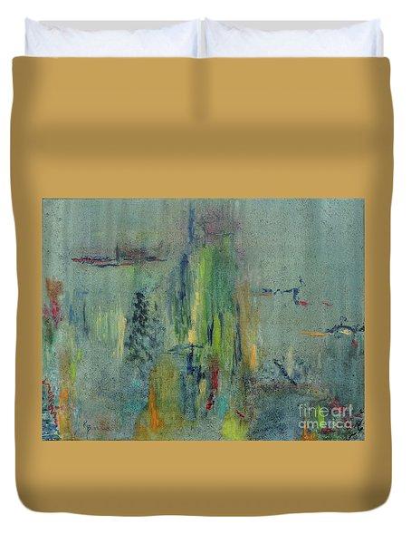 Duvet Cover featuring the painting Dreaming #1 by Karen Fleschler