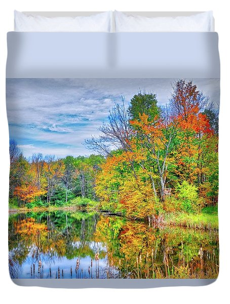 Duvet Cover featuring the photograph Dreams Of Fall In The Finger Lakes by Lynn Bauer