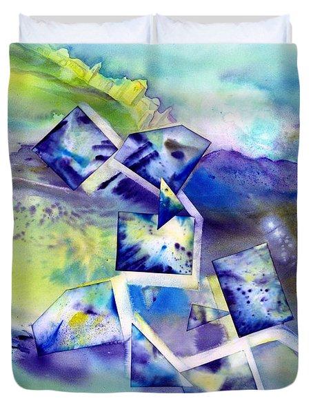 Dreamy Blue Landscape Duvet Cover