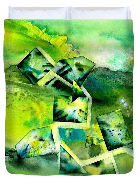 Dreamy Green Landscape Duvet Cover
