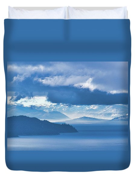 Dreamy Kind Of Blue Duvet Cover